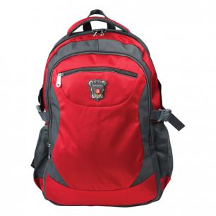 """Рюкзак для школы и офиса BRAUBERG """"StreetBall 2"""", разм. 48*34*18см, ткань, серо-красный, 224452"""