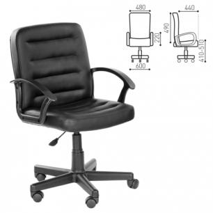 """Кресло оператора """"Симпл"""", CH 192 с подлокотниками, кожзам, черное, ш/к 16099"""