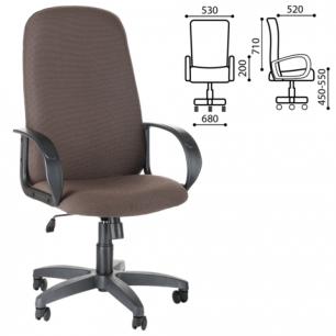 """Кресло офисное """"Фаворит"""", СН 279, высокая спинка, с подлокотниками, коричневое B-28, ш/к33041"""