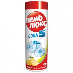 """Чистящее средство ПЕМОЛЮКС 480г, Сода-5 """"Лимон"""", порошок, ш/к 80739"""