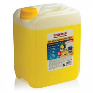 "Средство для мытья пола ЛАЙМА PROFESSIONAL 5кг, концентрат, ""Лимон"", 601606"