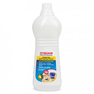 "Средство для мытья пола ЛАЙМА PROFESSIONAL 1000г, концентрат, ""Лимон"", 601607"