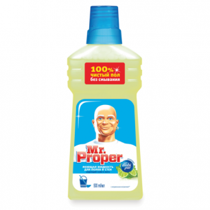 """Средство для мытья пола и стен MR.PROPER (Мистер Пропер)  500мл, """"Бодрящий лайм и мята"""", ш/к 19061"""