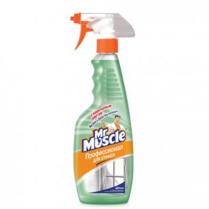 Средство для мытья стекол МИСТЕР МУСКУЛ 500мл, с нашатырным спиртом, распылитель, ш/к 00153