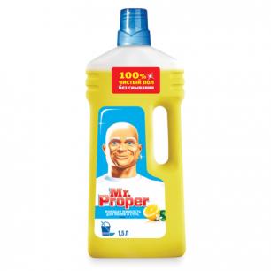 """Средство для мытья пола и стен MR.PROPER (Мистер Пропер)  1,5л, """"Лимон"""", ш/к 57484"""