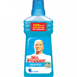 """Средство для мытья пола и стен MR.PROPER (Мистер Пропер)  500мл, """"Океан"""", ш/к 71131"""