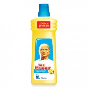 """Средство для мытья пола и стен MR.PROPER (Мистер Пропер)  750мл, """"Лимон"""", ш/к 57378"""