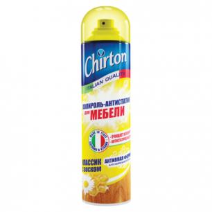 Полироль для мебели CHIRTON (Чиртон)  антистатическая формула 500мл, с воском, аэрозоль, ш/к 49970
