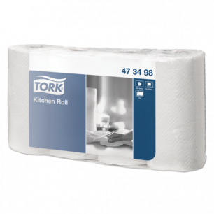Полотенце бумажное TORK, 2-х слойное, спайка 4шт.х20,4м, Advanced, белое, 473498