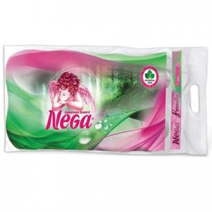 Бумага туалетная NEGA Family (Нега), 2-х слойная, спайка 8шт.х23м, белая, ш/к 00236