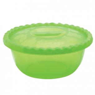 Миска-салатник 5л с крышкой IDEA, круглая, диаметр 29,5 см, высота 13 см, цвет салатовый, М 1317