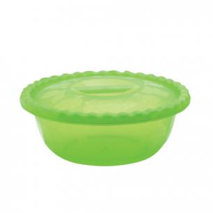 Миска-салатник 2,7л с крышкой IDEA, овальная, (в8*ш19*г31 см), цвет салатовый, М 1323