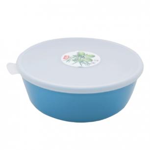"""Миска-салатник 2,5л герметич. крышка IDEA, """"Прованс"""", круглая, (в9*диам22см), цвет бирюзовый, М 1382"""