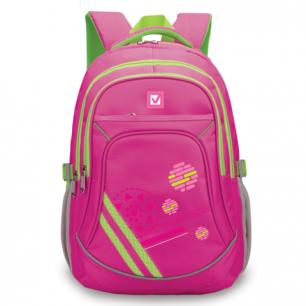 Рюкзак BRAUBERG для средней школы, дев., розов/салатовый., Роуз, 46*34*18см, 225526