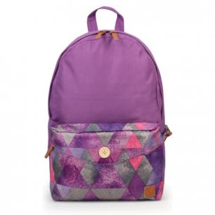Рюкзак BRAUBERG B-HB1601 ст.класс/студ, дев., Фиолетовый, карман с пуговицей, 40*28*12 cм, 225351