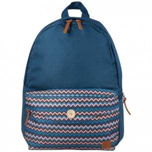 Рюкзак BRAUBERG B-HB1602 ст.класс/студ, дев., Синий, карман с пуговицей, 40*28*12 cм, 225352