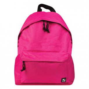 Рюкзак BRAUBERG B-HB1625 ст.класс/студенты/молодежь, сити-формат, Один тон Розовый, 41*32*14, 225375