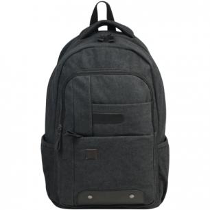 Рюкзак BRAUBERG W-163 ст.класс/студ, холщовый, иск. кожа, мальч., Пульс, 44*30*14 см, 225296