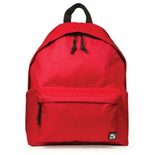 Рюкзак BRAUBERG B-HB1629 ст.класс/студенты/молодежь, сити-формат, Один тон Красный, 41*32*14, 225379
