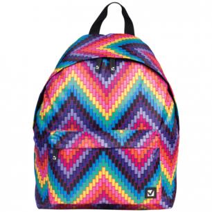 Рюкзак BRAUBERG B-HB1619 ст.класс/студенты/молодежь, цветной Регги, плотн. дно, 41*32*14 cм, 225369