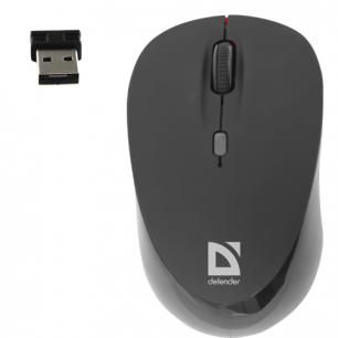 Мышь беспроводная оптическая DEFENDER Dacota MS-155 Nano, USB, 2кнопки+1колесо-кноп, черн/красн, 52155