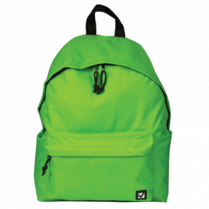 Рюкзак BRAUBERG B-HB1627 ст.класс/студенты/молодежь, сити-формат, Один тон Салатовый, 41*32*14,225377