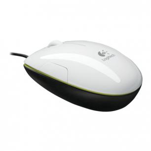 Мышь проводная лазерная LOGITECH M150,2кнопки+ 1колесо-кнопка, цвет белый, 910-003754