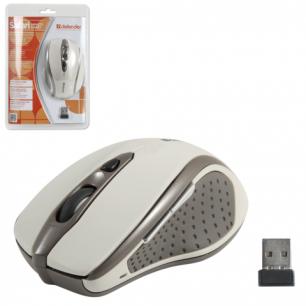 Мышь беспроводная оптическая DEFENDER Safari MM-675 Nano, USB, 4кн+1колесо-кн., бежевый, 52677