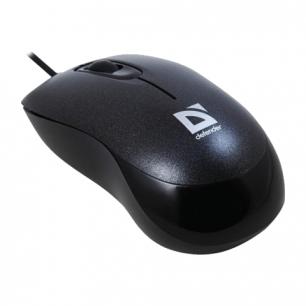 Мышь проводная оптическая DEFENDER Orion 300, USB, 2кнопки+1колесо-кнопка, черный, 52813