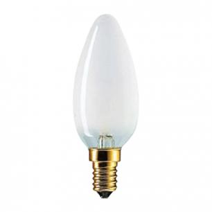 Лампа накаливания PHILIPS B35 FR E14, 60Вт, свечеобраз., матов., колба d=35мм, цоколь d=14мм, 011763