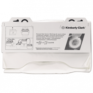Покрытия на унитаз KIMBERLY-CLARK бумажные 125шт., КОМПЛЕКТ 12шт, бел, 38,1х45,7 (дисп601549), 6140