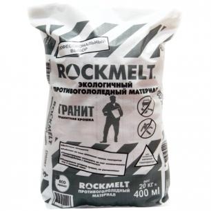 Реагент антигололедный ROCKMELT (Рокмелт)  20кг, гранитная крошка, фракция 2-5мм, мешок, ш/к 90943