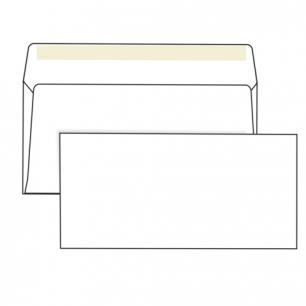 Конверты Е65, КОМПЛЕКТ 1000шт., клей декстрин, белые, 110х220мм, ш/к-71410