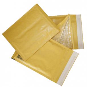 Конверт-пакет с просл. из пузыр. пленки КОМПЛЕКТ 10шт, 240х330мм, отр.полоса, крафт-бум, КОРИЧ, G/4-G.10