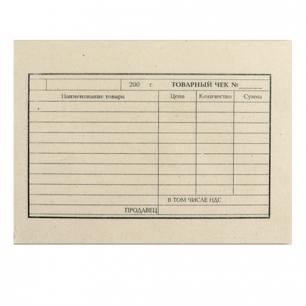 Бланк бух. типогр. Товарный чек, А6 97*134мм, (100шт.), 130015