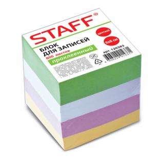 Блок для записей STAFF проклеенный, куб 8*8*800л., цветной, БК-4Ц, 120383