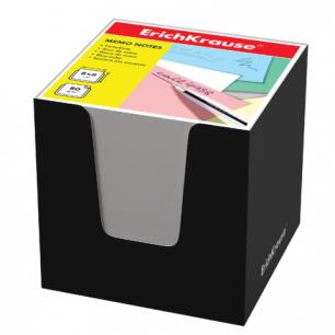 Блок для записей ERICH KRAUSE в подставке картонной черной, куб 8*8*8, белый, 36984