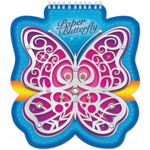 "Блокнот А6, фигурная высечка, 60л. ""Хатбер"", гребень, 80г/м, Butterfly, 60Б6Aгр_12691 (B163283)"
