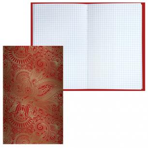 Блокнот BRAUBERG А5 135*206мм, 80л. твердая лам.обл.фольга, клетка, восточный узор, 126053