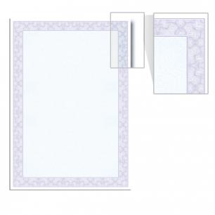 Сертификат-бумага BRAUBERG А4, 25 листов, 115 г/м, в суперобложке, Голубая сеточка, 122618