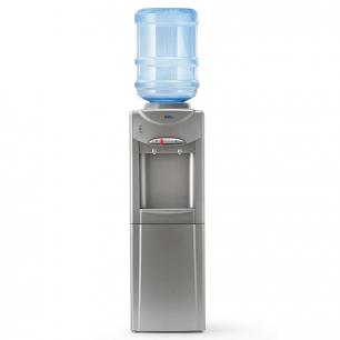 Кулер для воды AEL LD-AEL-326C, напольный, НАГРЕВ/ОХЛАЖДЕНИЕ, шкафчик, 2 крана, серебристый, 00077