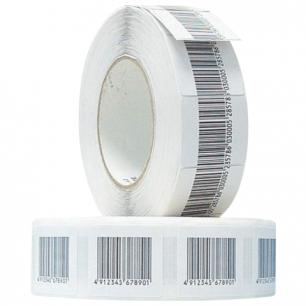 Этикетки противокражные радиочастотные LUCATRON , 40х40мм, ложный штрих-код , 2000шт, самокл, А-0044