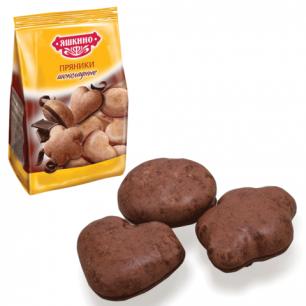 """Пряники ЯШКИНО """"Шоколадные"""", в сахарной и шоколадной глазури, 350г, ш/к 35401"""
