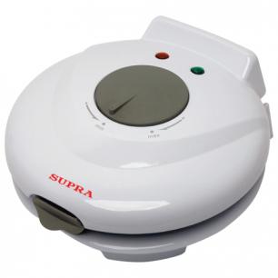 Электровафельница SUPRA WIS-100, мощность 750Вт, конус для сворачивания рожков, пластик, белая