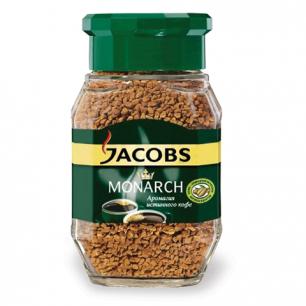 Кофе растворимый JACOBS MONARCH, сублимированный, 190г, в стеклянной банке, 11233