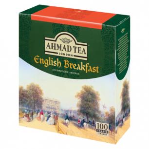 """Чай AHMAD """"English Breakfast"""", черный, 100 пакетиков по 2г, 600-012"""