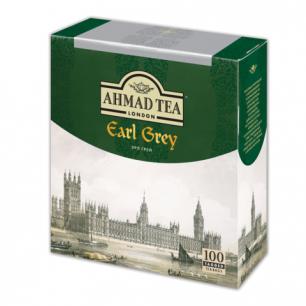 """Чай AHMAD """"Earl Grey"""", черный с ароматом бергамота, 100 пакетиков с ярлычками по 2г"""