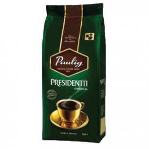 """Кофе в зернах PAULIG (Паулиг)  """"Presidentti Original"""", натуральный, 250г, вакуумная упаковка, 16570"""
