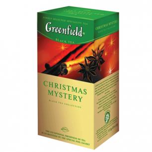 """Чай GREENFIELD """"Christmas Mystery"""" (Таинство Рождества), черный с корицей, 25 пак. по 1,5г, ш/к04346"""
