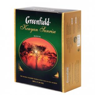 """Чай GREENFIELD """"Kenyan Sunrise"""" (Рассвет в Кении), черный, 100 пакетиков в конвертах по 2г, ш/к06005"""